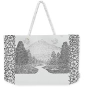 Mountain Walk Border Weekender Tote Bag