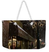 G Street Antique Store In The Snow Weekender Tote Bag