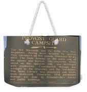 Ga-005-16 Provost Guard Campsite Weekender Tote Bag
