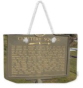 Ga-005-28 Cemetery Square Weekender Tote Bag