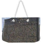 Ga-73-4 Hart County Weekender Tote Bag