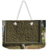 Ga-97-1 Madison County Weekender Tote Bag