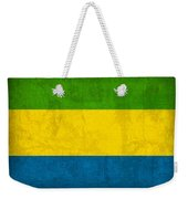 Gabon Flag Vintage Distressed Finish Weekender Tote Bag