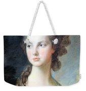Gainsborough's The Hon. Mrs. Thomas Graham Up Close Weekender Tote Bag