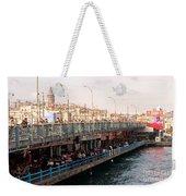 Galata Skyline And Bridge 02 Weekender Tote Bag