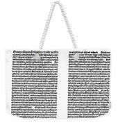 Galen: Opera Omnia Weekender Tote Bag