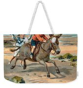 Galloping Donkey At The Beach Weekender Tote Bag
