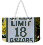 Gallops Per Hour Weekender Tote Bag