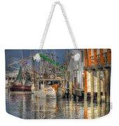 Galveston Shrimp Boats Weekender Tote Bag