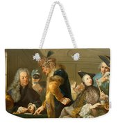 Gamblers In The Foyer Weekender Tote Bag by Johann Heinrich Tischbein