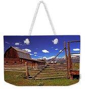 Gambrel Barn And Tetons Weekender Tote Bag