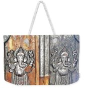 Ganesh Door Plating At The Yoga Maya Hindu Temple In New Delhi India Weekender Tote Bag
