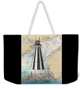 Gannet Rock Lighthouse New Brunswick Canada Nautical Chart Art Weekender Tote Bag