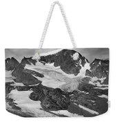 509427-bw-gannett Peak And Gooseneck Glacier, Wind Rivers Weekender Tote Bag
