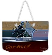 Gar Wood Boat Weekender Tote Bag