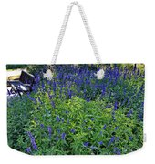 Garden Bench And Sage Weekender Tote Bag