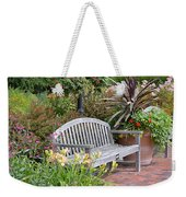 Garden Benches 3 Weekender Tote Bag