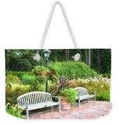 Garden Benches 7 Weekender Tote Bag