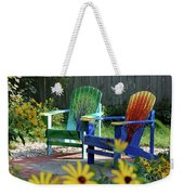 Garden Chairs Weekender Tote Bag