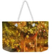 Garden Flowers With Bench Photo Art 01 Weekender Tote Bag
