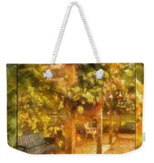 Garden Flowers With Bench Photo Art 02 Weekender Tote Bag