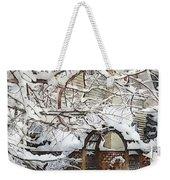 Garden Gate In Winter Weekender Tote Bag