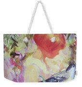 Garden Girl - Antique Collage Weekender Tote Bag