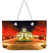 Garden Night Scene At Christmas Time In The Carolinas Weekender Tote Bag