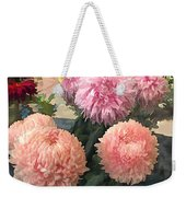 Garden Of Mixed Pink Chrysanthemums Weekender Tote Bag