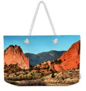 Garden Of The Gods Sunrise Panorama Weekender Tote Bag