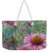 Garden Pink And Abstract Painting Weekender Tote Bag