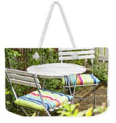 Garden Seating Area Weekender Tote Bag