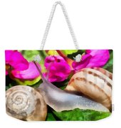 Garden Snails Weekender Tote Bag
