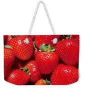 Garden Strawberries Weekender Tote Bag