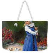 Garden Visitors Weekender Tote Bag by Donna Tucker