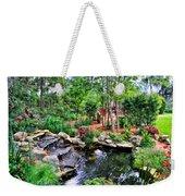 Garden Waterfall And Pond Weekender Tote Bag