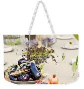 Garden Wedding Table Weekender Tote Bag