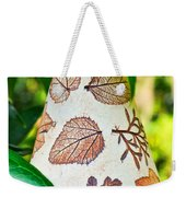 Garden Leaf Pattern Windchime Weekender Tote Bag