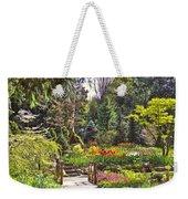 Garden With A Bridge Weekender Tote Bag