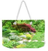 Garden With Japanese Maple Weekender Tote Bag