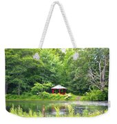 Garden With Pond Weekender Tote Bag