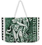 Gardening And Horticulture Vintage Postage Stamp Print Weekender Tote Bag