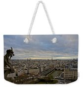 Gargoyle And The Eiffel Tower Weekender Tote Bag