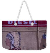 Gas Station Indian Chief Weekender Tote Bag