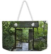 Gates Of Tranquility Weekender Tote Bag by Sandra Bronstein