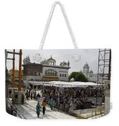Gathering Inside The Golden Temple In Amritsar Weekender Tote Bag