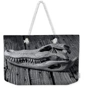 Gator Black And White Weekender Tote Bag