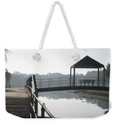 Gator On A Foggy Morning Weekender Tote Bag