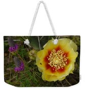 Gattinger's Prairie Clover And Prickly Pear Flower Weekender Tote Bag