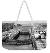 Gatun Locks Panama Monochrome Weekender Tote Bag
